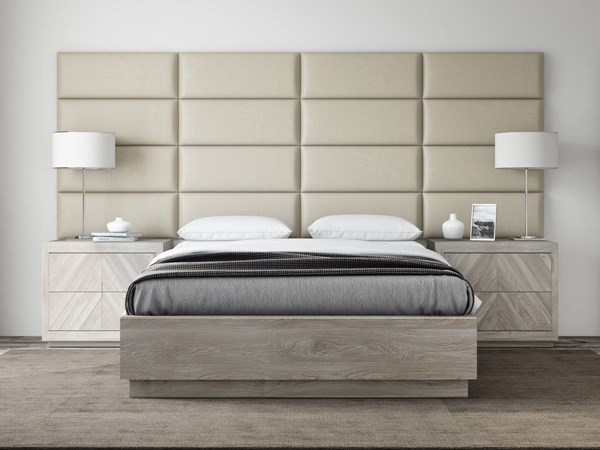 Vant Panels Vintage Leather Dusty Taupe Queen or Full Wall Panels - 120 x 46 VNT-LSM3016-QF-12046