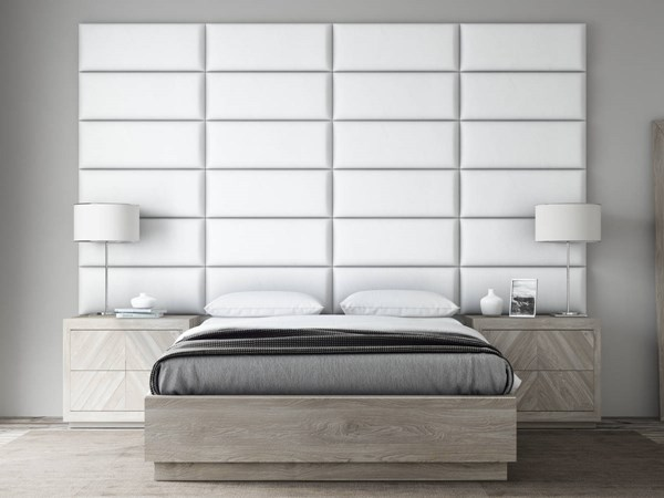Vant Panels Vintage Leather White Dove Queen or Full Wall Panels - 120 x 69 VNT-LWH3024-QF-12069