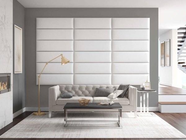 Vant Panels Vintage Leather White Dove King or Full Wall Panels - 117 x 69 VNT-LWH3920-KF-11769