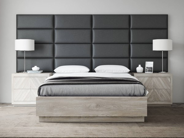 Vintage Leather Vinyl Queen or Full Bed Accent Wall Panels [120 x 46] VNT-L3016-QF-12046-VAR