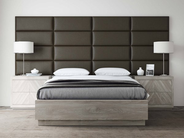 Vant Panels Vintage Leather Saddle Brown Queen or Full Wall Panels - 120 x 46 VNT-LBR3016-QF-12046