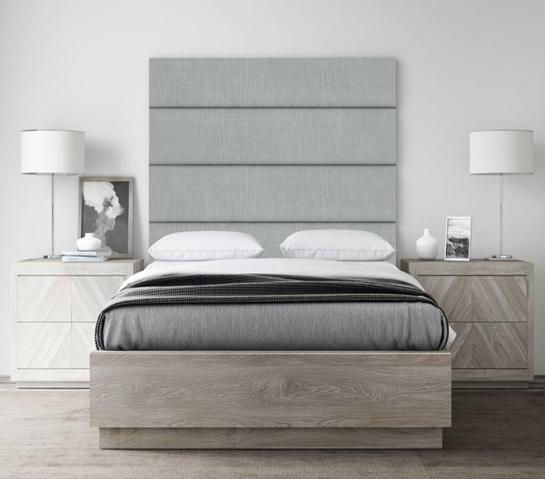 Cotton Weave Ash Gray 39 Inch Twin King 4 Wall Panels [39 x 46] VNT-WDG394