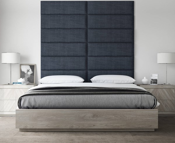 Vant Panels Cotton Weave Midnight Blue Queen or Full Wall Panels - 60 x 69 VNT-WDN3012-QF-6069