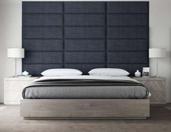 Vant Panels Cotton Weave Midnight Blue King or Full Wall Panels - 117 x 69 VNT-WDN3920-KF-11769