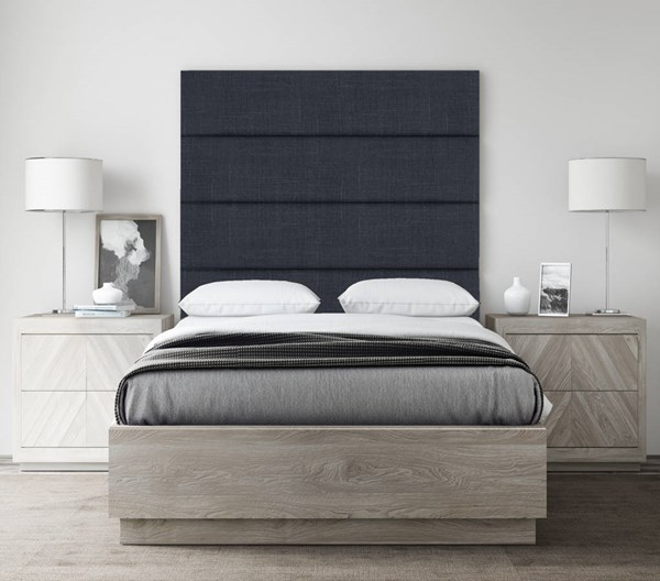 Vant Panels Cotton Weave Midnight Blue Twin 4 Wall Panels - 39 x 46 VNT-WDN394