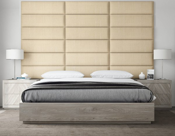 Vant Panels Cotton Weave Toasted Wheat King or Full Wall Panels - 117 x 69 VNT-WIV3920-KF-11769