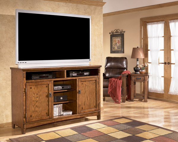 Cross Island Contemporary White Wood Tall Large TV Stand W319