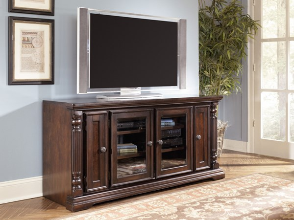 Key Town Traditional Dark Brown Solid Wood TV Stand W668-22