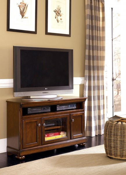 Porter Casual Brown Wood Medium TV Stand W697-28