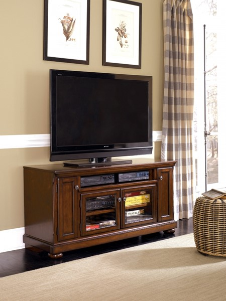 Porter Casual Brown Wood Large TV Stand W/Consoles W697-38