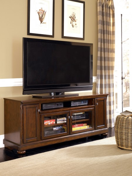 Porter Rustic Brown Extra Large Tv Stand W697-58