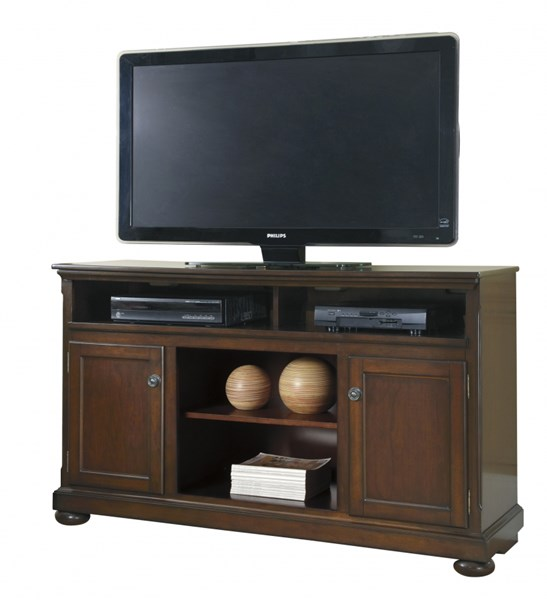 Porter Casual Rustic Brown Wood LG TV Stand W697-68