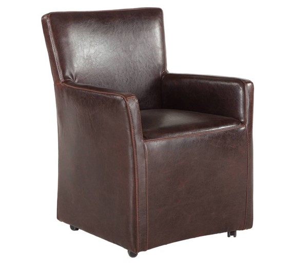 World Interiors Lily Brown Wheeled Armchair WIF-ZWPY530