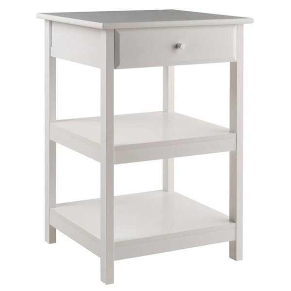 Winsome Delta White Solid Wood Printer Stand WNS-10121