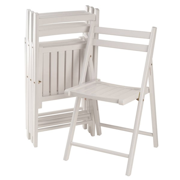Winsome Robin White Solid Wood Folding Chairs WNS-10415-FCH-VAR