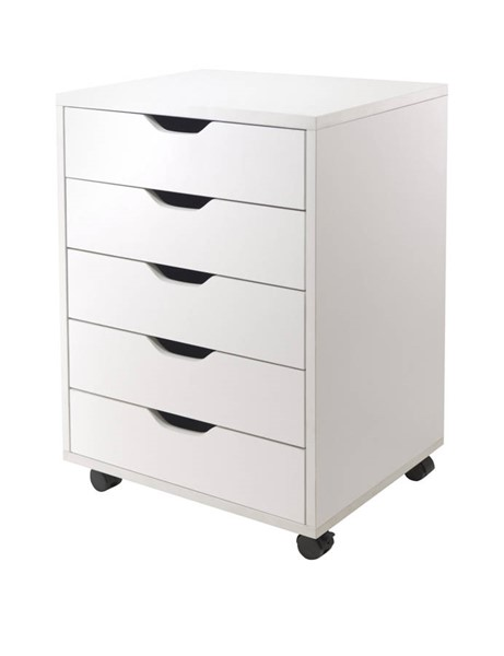 Winsome Halifax White Wood 5 Drawers Cabinets WNS-1051-FC-VAR