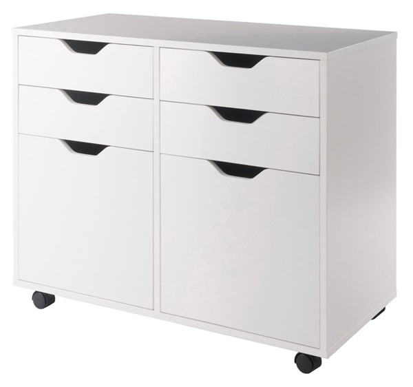 Winsome Halifax White 2 Section Storage Cabinet WNS-10622