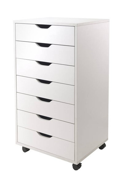 Winsome Halifax White Wood 7 Drawers File Cabinets WNS-1079-FC-VAR