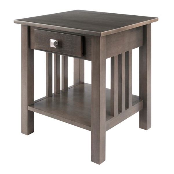 Winsome Wood Stafford Grey End Table WNS-16018