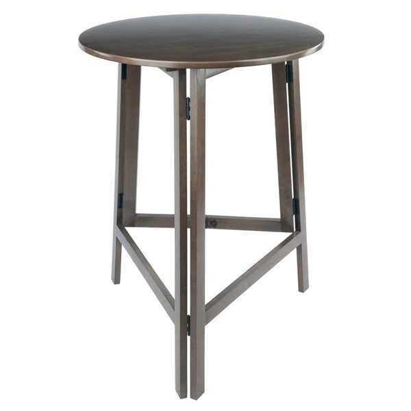 Winsome Torrence Oyster Gray High Round Folding Table WNS-16340