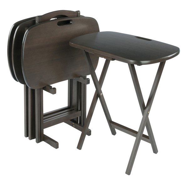 Winsome Lucca Oyster Gray 5pc Snack Table Set WNS-16577