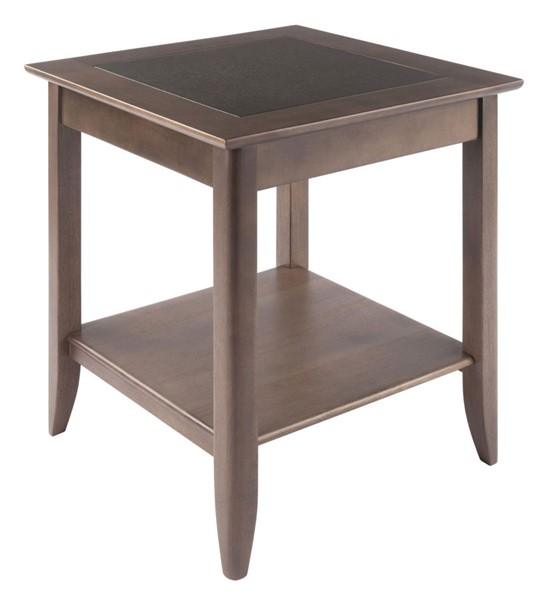 Winsome Wood Santino Oyster Gray End Table WNS-16622