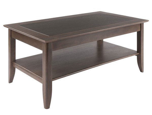 Winsome Wood Santino Oyster Gray 3pc Coffee Table Set WNS-16640-OCT-S1