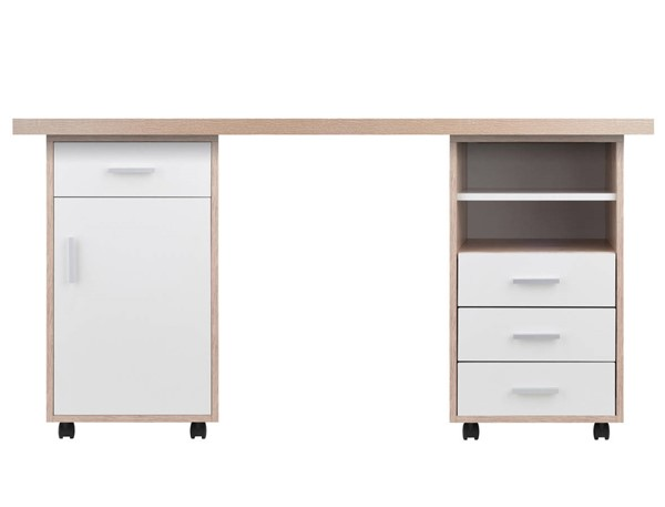 Winsome Kenner Reclaimed Wood 3pc Modular Office Desk WNS-18322