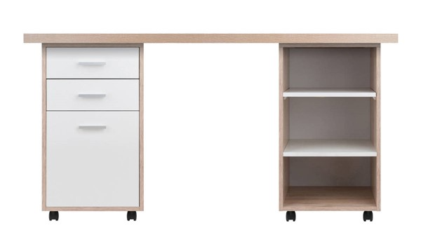 Winsome Kenner Reclaimed Wood 3pc Modular Desk WNS-18361