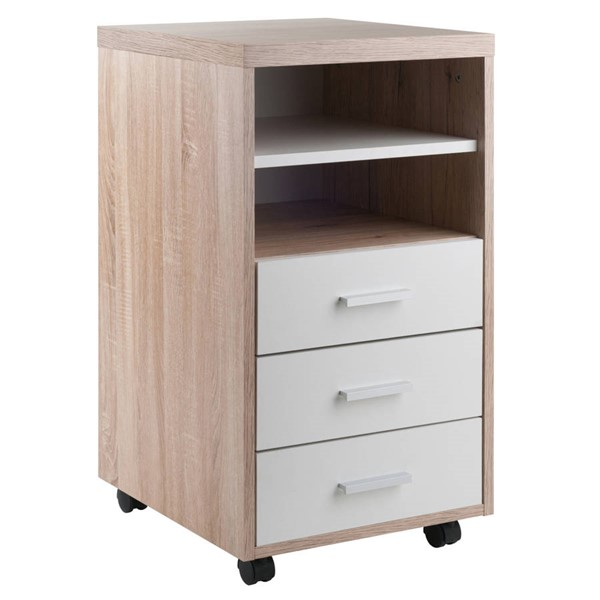 Winsome Kenner Reclaimed Wood 3 Drawers and 2 Shelves Mobile Storage Cabinet WNS-18532