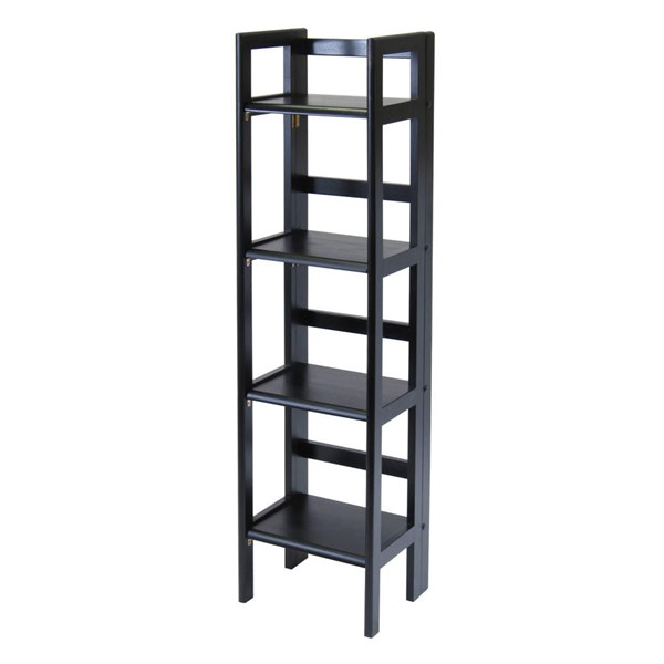 Winsome Terry Black Solid Wood Folding Bookcases WNS-20852-BK-VAR