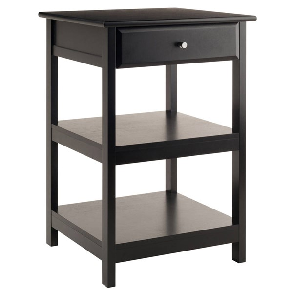 Winsome Delta Black Wood Printer Stand WNS-22121