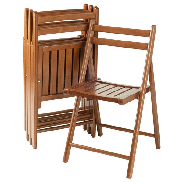 4 Winsome Robin Teak Solid Wood Folding Chairs WNS-33415