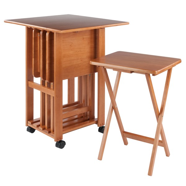 Winsome Sophia Teak 5pc Snack Table Set WNS-33720