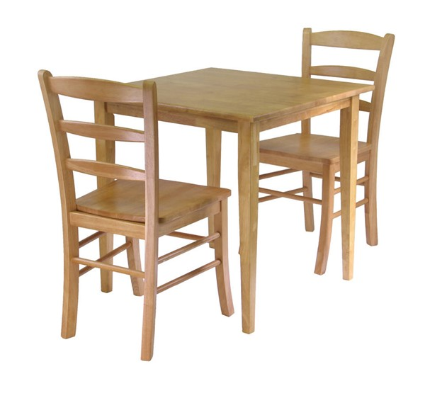 Winsome Groveland Light Oak Solid Wood Square 3pc Dining Room Set WNS-34330