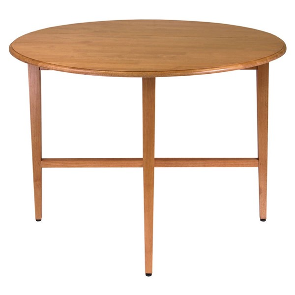 Winsome Hannah Light Oak Solid Wood Round 42 Inch Double Drop Leaf Gate Leg Table WNS-34942