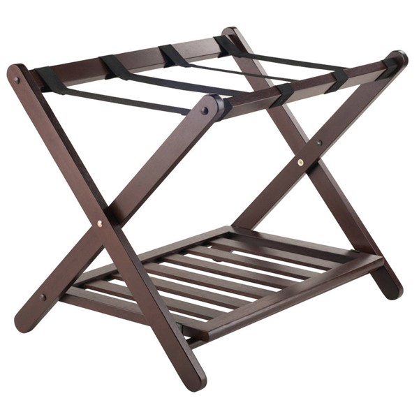 Winsome Remy Cappuccino Solid Wood Shelf Luggage Rack WNS-40436