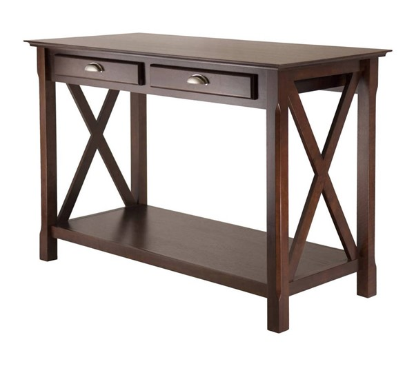 Winsome Xola Cappuccino Solid Wood 2 Drawers Console Table WNS-40544