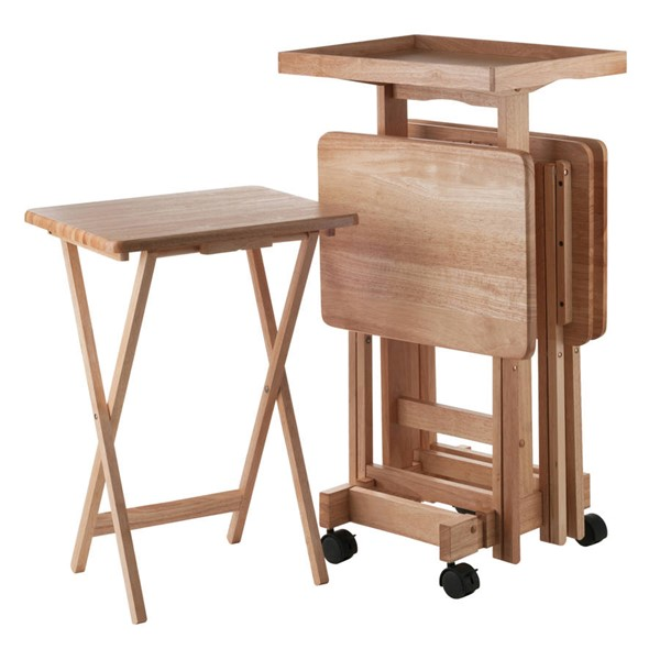 Winsome Isabelle Natural Solid Wood 6pc Snack Table Set WNS-42820