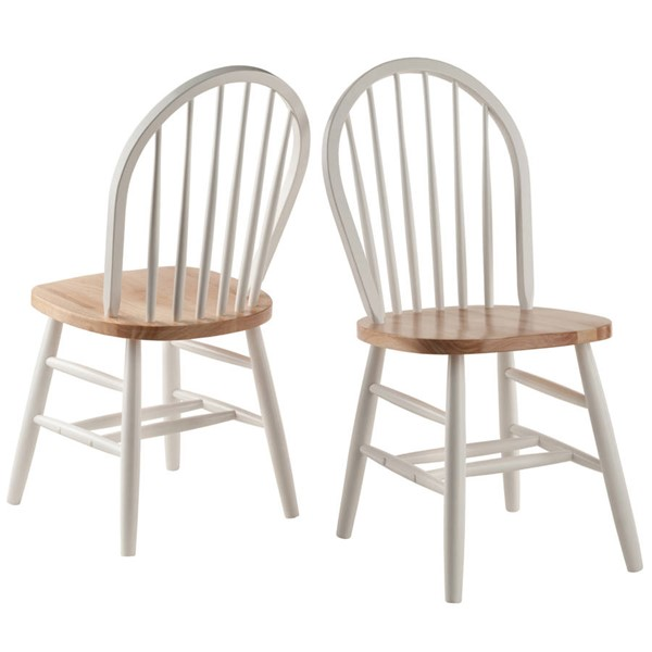 2 Winsome Windsor Natural White Solid Wood Chairs WNS-53836