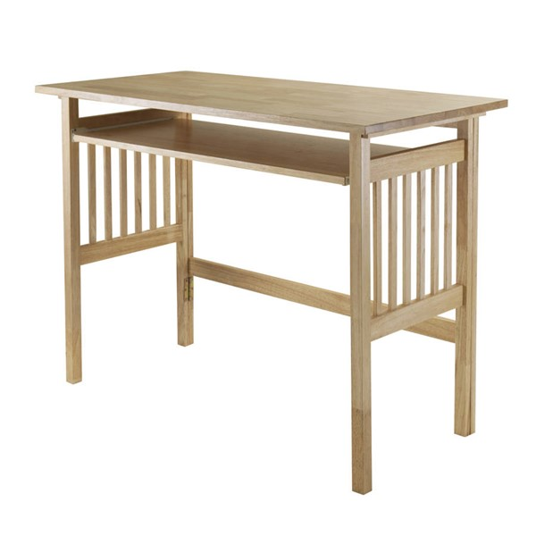 Winsome Mission Natural Solid Wood Computer Desk with Key Board Tray WNS-81140