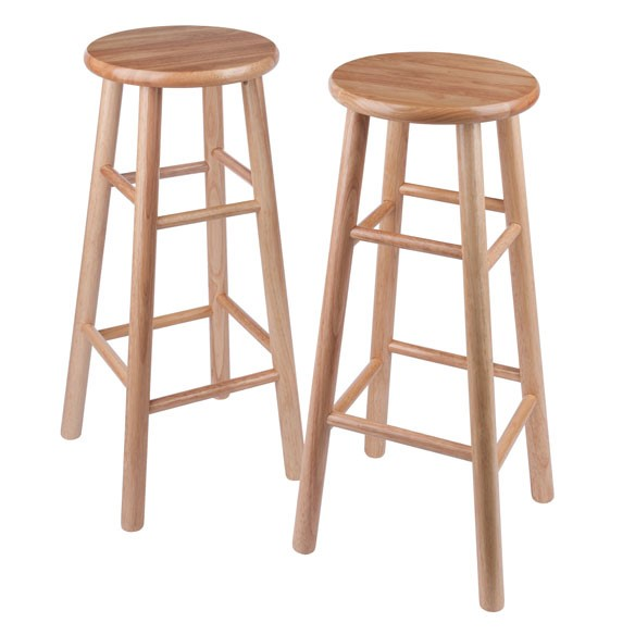 2 Winsome Tabby Natural Solid Wood 30 Inch Bar Stools WNS-81780