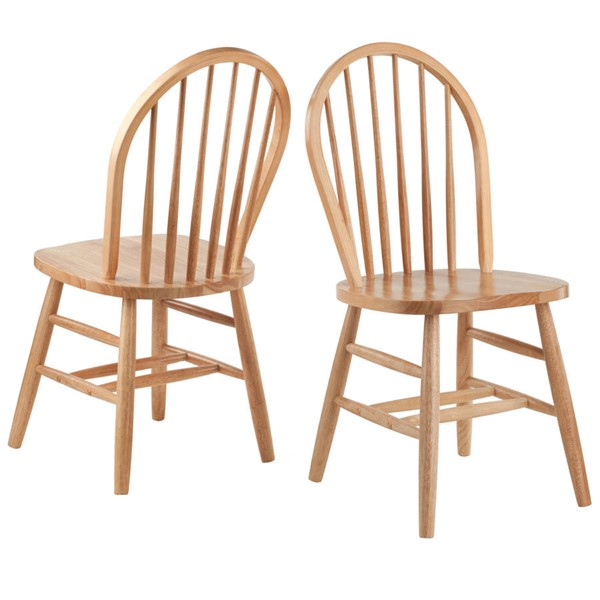 2 Winsome Windsor Natural Solid Wood Dining Chairs WNS-81836