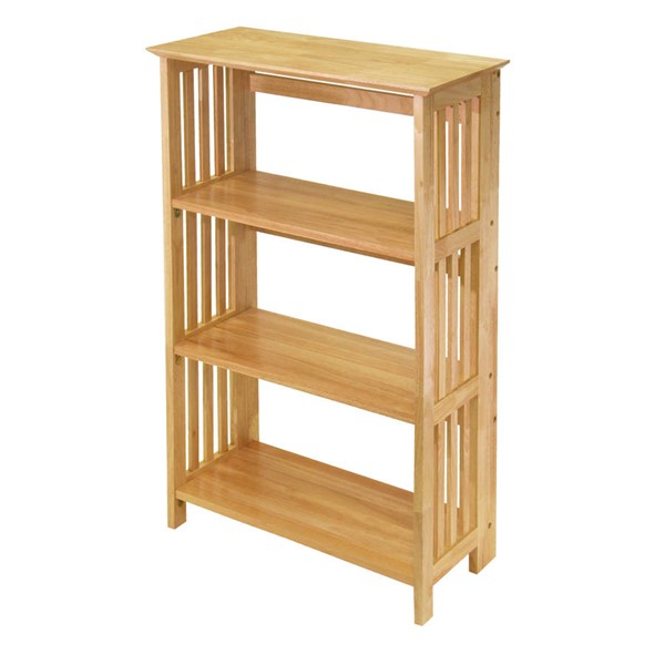 Winsome Mission Natural Solid Wood 4 Tier Shelf WNS-82427