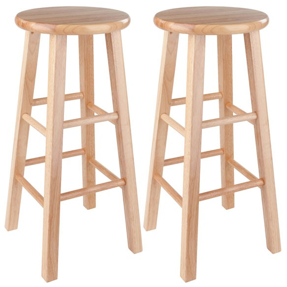 2 Winsome Pacey Beech Solid Wood 29 Inch Bar Stools WNS-83230