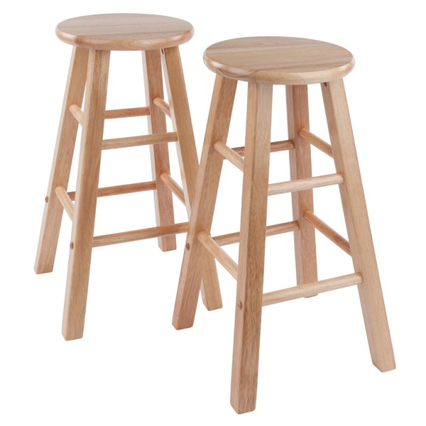 2 Winsome Wood Element Natural Wood 24 Inch Counter Stools WNS-83274