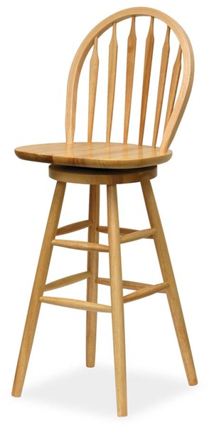 Winsome Wagner Beech Solid Wood 30 Inch Arrow Back Windsor Swivel Seat Bar Stool WNS-89630