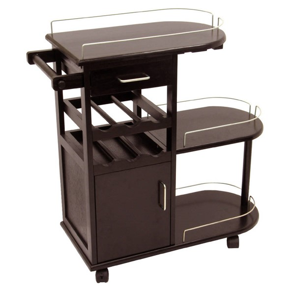 Winsome Jimmy Dark Espresso Solid Wood Entertainment Cart WNS-92235