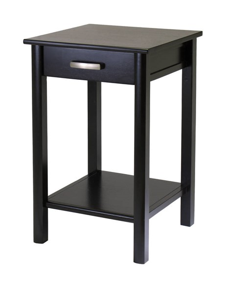 Winsome Liso Dark Espresso Solid Wood Drawer and Shelf Printer Table WNS-92719