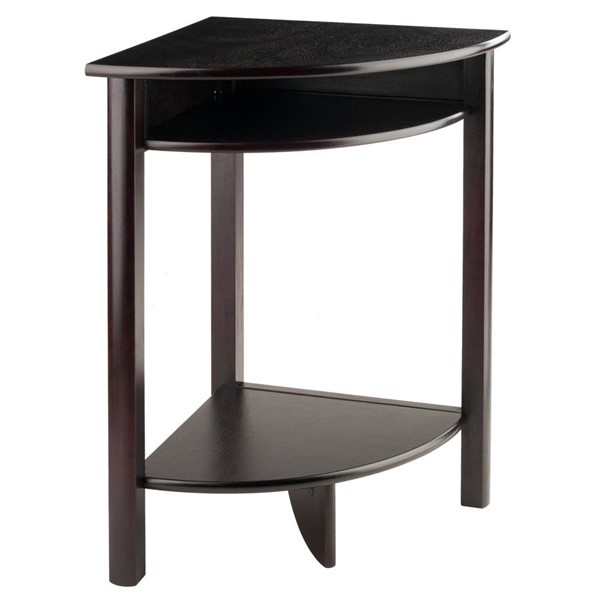 Winsome Liso Dark Espresso Solid Wood Cube Storage and Shelf Corner Table WNS-92720